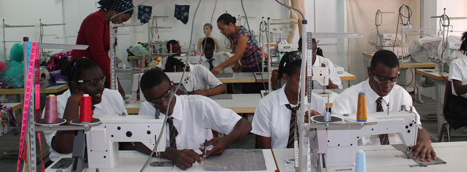 TVET Students of Goodwill Secondary in Garment Room