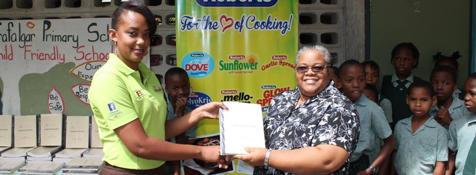 Fine Foods has donated 500 exercise books to the Ministry of Education for use during National Numeracy Week.