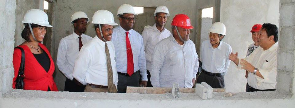Members of Cabinet & Ministry of Education on Monday March 30, toured the Newtown Primary School construction site.